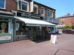 Awning on shop front in Grimsby
