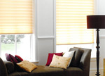 Pleated blind in Grimsby lounge