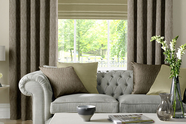 Designer Curtains In A Living Room Grimsby
